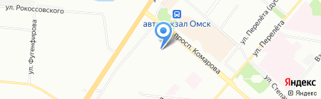 Детский сад №176 на карте Омска