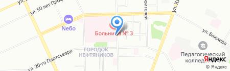 Дельта на карте Омска
