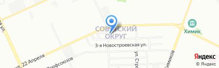 Специальная коррекционная общеобразовательная школа №3 для детей с нарушениями развития интеллекта на карте Омска