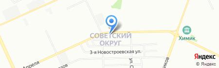 Звездное на карте Омска