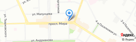 Гермес на карте Омска