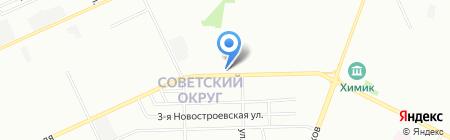 Апрель на карте Омска