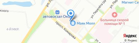 Кюфта на карте Омска