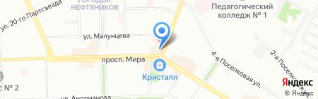 Радиосфера на карте Омска