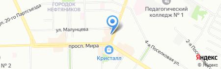Альма на карте Омска