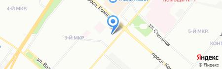 Снедин на карте Омска
