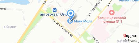 Фант на карте Омска