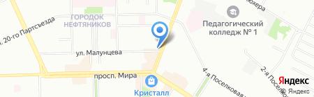 TAY Lounge Bar на карте Омска