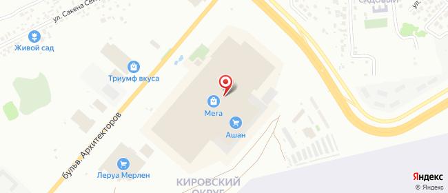 Карта расположения пункта доставки Омск Архитекторов в городе Омск