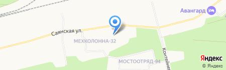 Медвежий угол на карте Сургута