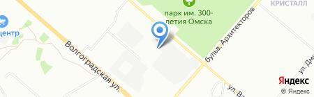 Омский блок на карте Омска