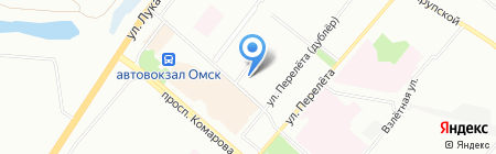 Альфа на карте Омска