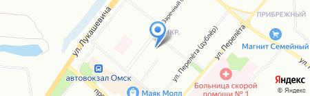 Детский сад №341 на карте Омска
