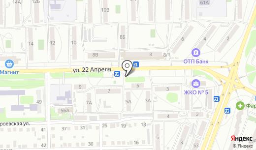Вулкан. Схема проезда в Омске