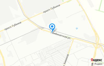 Местоположение на карте пункта техосмотра по адресу г Омск, ул Комбинатская, д 35