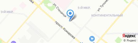 Горная лаванда на карте Омска