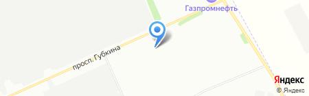 Омский каучук на карте Омска