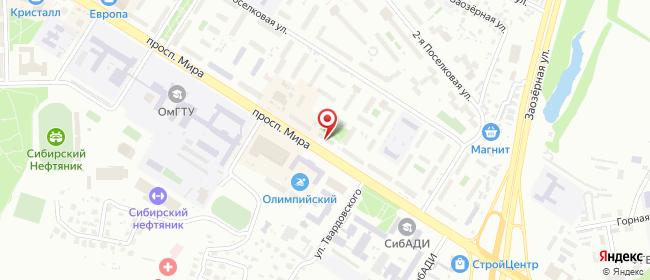 Карта расположения пункта доставки Омск Мира в городе Омск