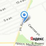 Шашлычный домик на карте Омска