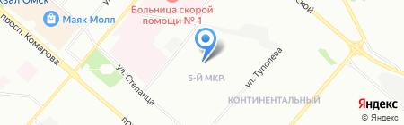 Детский сад №245 на карте Омска