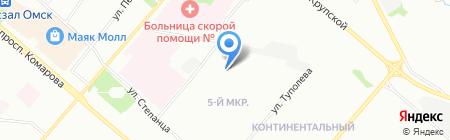 Левобережный-5 на карте Омска
