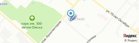 Голдфиш на карте Омска