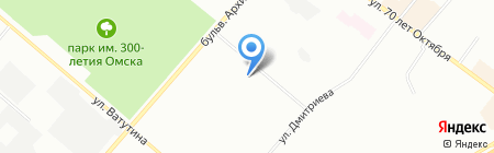 Средняя общеобразовательная школа №24 на карте Омска