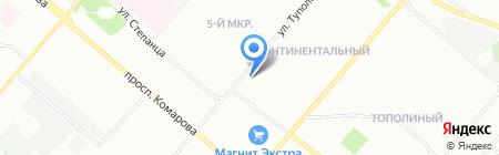 Прикосновение на карте Омска