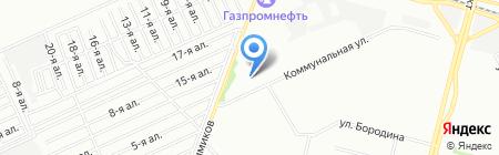 Нефтехим на карте Омска