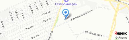 Заозерный-1 на карте Омска