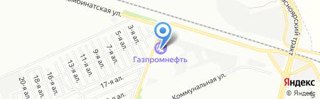 АЗС Газпромнефть на карте Омска