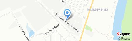 Атлант на карте Омска