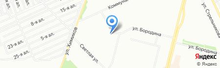 На Глинки на карте Омска
