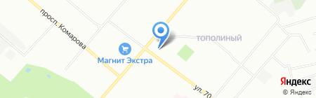 Гарант на карте Омска