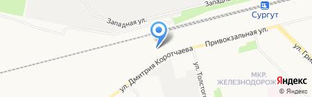 Сургутская дистанция электроснабжения на карте Сургута