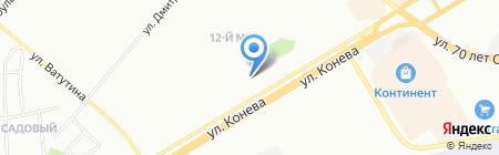 Рута на карте Омска