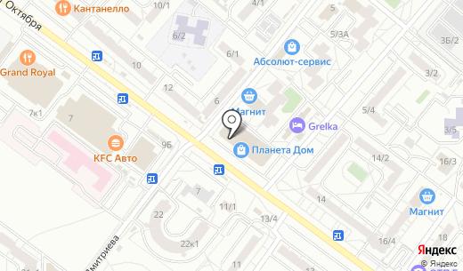 Блеск. Схема проезда в Омске