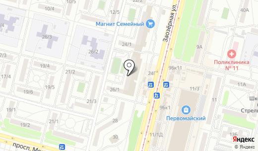 Банкомат БАНК УРАЛСИБ. Схема проезда в Омске
