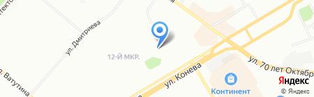 Шапландия на карте Омска