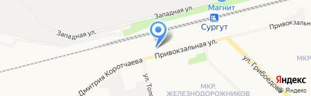 Сибирский отряд ведомственной охраны на Свердловской железной дороге на карте Сургута