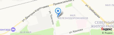 Начальная школа-детский сад №42 на карте Сургута