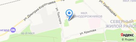 Продуктовый магазин на ул. Толстого на карте Сургута