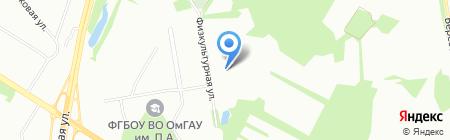 Детский сад №52 на карте Омска