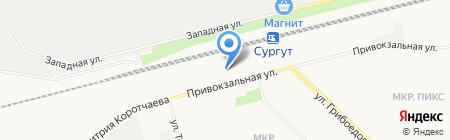 Сургутский линейный отдел МВД России на транспорте на карте Сургута