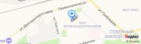 Средняя общеобразовательная школа №20 на карте Сургута
