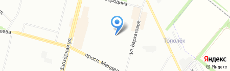 Средняя общеобразовательная школа №106 на карте Омска