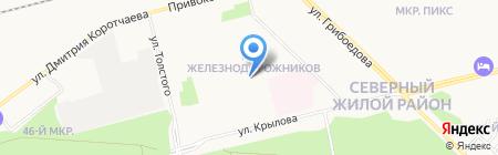 Локомотив на карте Сургута