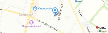 Детский сад №88 на карте Омска