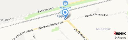 Магазин печатной продукции на карте Сургута