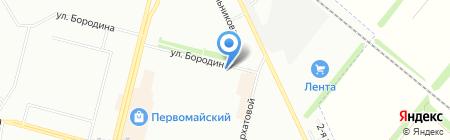 Милаша на карте Омска